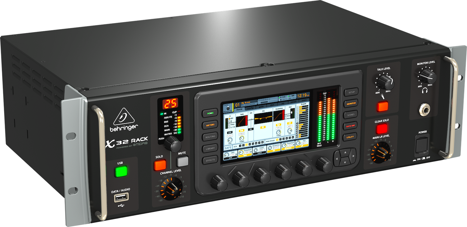 X32 Rack Digital Audio Mixer By Behringer